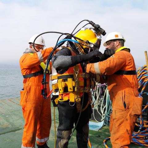 Single buoy mooring diving project, Ireland - RockSalt Subsea